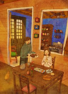 """A Korean artist named """"Puuung"""" expresses long term relationships by putting in…"""