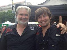 Like father, like son! Myron Mixon and Michael Mixon. #SafewayBBQBattle