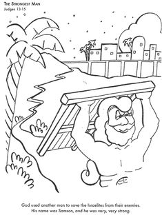 BIBLE COLORING PAGES The Stronges Man