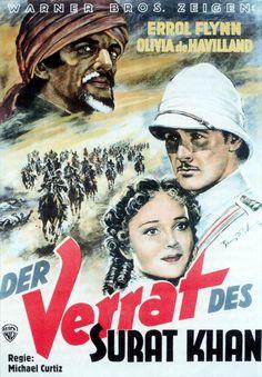 THE CHARGE OF THE LIGHT BRIGADE (1939) - Errol Flynn - Olivia DeHavilland - Directed by Michael Curtiz - Warner Bros. - German Movie Poster.