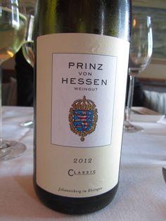 Prinz von Hessen Classic Riesling, Weingut Prinz von Hessen, Rheingau, Germany 2011. Goes well with white fish.