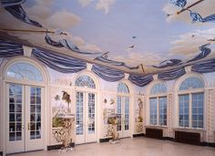 fantasy  ceilings | walls and ceiling are painted with a mural of an East Indian fantasy 7.