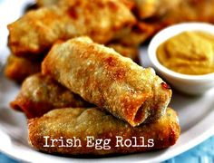 Irish Egg Rolls. Something to get the party started.