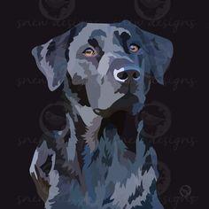 Black labrador | gundog | snewdesigns.co.uk Black Labrador, Puppy Love, Pop Art, Puppies, Pets, Digital, Fictional Characters, Black Labs, Cubs