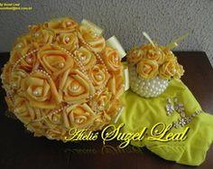 Buquê de Noiva Amarelo Ouro