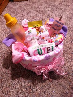 Baby Shower Diaper Cake Centerpieces / Gift for New Mom / baby boy / baby girl  on Etsy, $18.00