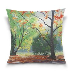 Custom Pattern,you can design your own throw pillow case by sending image to us Decorative Pillow Cases, Throw Pillow Cases, Throw Pillows, Can Design, Design Your Own, Chair Bed, Beautiful Gardens, Color Patterns, Landscape Paintings