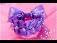 Резинка для волос из лент МК / Резинка для гульки / from satin ribbon Hair styil DIY - YouTube