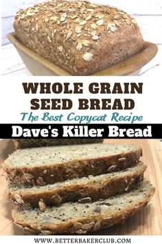 You can save money and make Whole Grain Seed Bread at home with this Dave's Killer Bread copycat recipe. Wheat Bread Recipe, Whole Grain Breadmaker Recipe, Good Seed Bread Recipe, Whole Wheat Seeded Bread Recipe, Brown Bread Recipe, Daves Killer Bread Recipe, Bread Machine Recipes, Ezekiel Bread Machine Recipe, Bread Machine Multigrain Bread Recipe