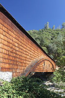 The Bridgeport Covered Bridge has the longest clear span of any surviving covered bridge in the world.