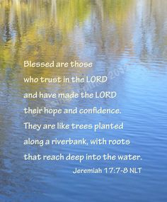 Scripture Art Print Word Art Trust Hope Confidence God Lord Jeremiah 17:7 Christian Home Decor 5 x 7