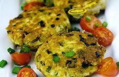 Delikatesa, kterou si oblíbíte. Karbanátky ze sýra, vajíčka a s mladou jarní cibulkou obalované ve strouhance. Mňamka! Salmon Burgers, Muffin, Menu, Cooking, Breakfast, Ethnic Recipes, Syr, Fitness, Menu Board Design