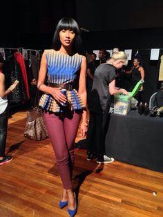Peplum top designed by Kiki Zimba ~African Prints, African women dresses, Kitenge, Ankara, Kente, African fashion styles, African clothing, Nigerian style, Ghanaian fashion ~DK