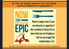 Can we supply some of our own food, like desserts or appetizers? #catering