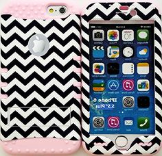 """myLife Stylish Design and Layered Protection Case for iPhone 6 Plus (5.5"""" Inch) by Apple {Ballet Pink """"Smooth Zig Zag Finish"""" Three Piece SECURE-Fit Rubberized Gel} myLife Brand Products http://www.amazon.com/dp/B00PV4QWZM/ref=cm_sw_r_pi_dp_iH2Cub1CFPYDT"""