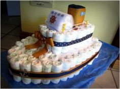 25 Tutorials For Making The Most Adorable Diaper Cakes Ever