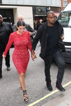 Kim Kardashian and Kanye West...I want that dress.