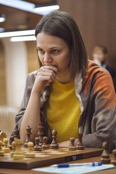 Anna Muzychuk This game is from round 2 of the 2018 FIDE Women's World Chess Championship. It is between Anastasia Bodnaruk with White. Chess Players, Puzzles, Posts, Female, Games, Blog, Inspiration, Chess, Biblical Inspiration