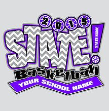 7a006f930 Cricket School   Team- Custom Girls State Basketball T-Shirt Design for  Students and