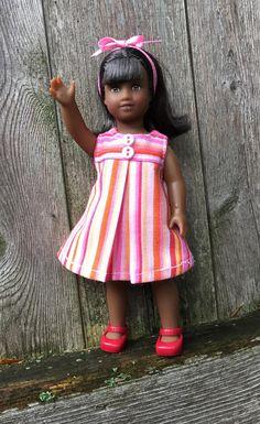 6 mini doll  striped play dress