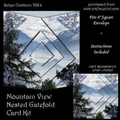 Mountain View Nested Gatefold Card Kit on Craftsuprint - Add To Basket!