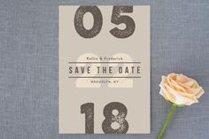 Bold typographic, Minimalist, Modern, No Photo Save the Date Cards | Minted