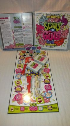 Scabs 'N' Guts THE Meducational Family Board Game Filled With Yucky FUN | Can't Resist Vintage!
