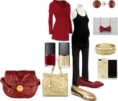 """""""Holiday Maternity"""" by catherine-rainwater on Polyvore"""