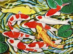 Continental Art Center AD-0188 12 by 16-Inch Koi Fishes Ceramic Art Tile by Continental Art Center. $60.12. Exclusive designs from well known artists with signature of the artist on each tile. Pre-attached backings can be removed by soaking in water for installation as backsplash or a center piece both indoor and outdoor. 100-Percent hand made 3-D textures are created by hand pipping process; One of a kind Come with a recyclable gift box. Hand painted, glazed, and kil...
