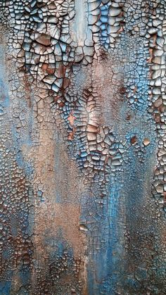 Original Rustic Texture Abstract Painting 24 x Modern Turquoise and Bronze Canvas Wall Art is part of Silvery Blue An Original Textured Abstract Painting By Amy - AmyNealArtStudio Thanks for checking out my art! Crackle Painting, Texture Painting, Art Sur Toile, Peeling Paint, Contemporary Abstract Art, Painting Techniques, Canvas Wall Art, Artwork, Art Paintings