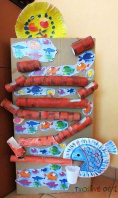 Ruličky od toaletního papíru, PET lahve tvoření