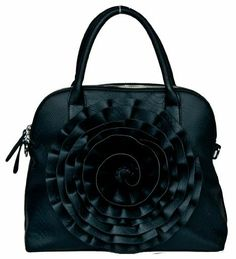 rose purse black ROSE HANDBAG $22 (WAS $99.00) SHIPPED FREE #FASHION #SALE