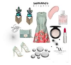 """""""Green #details 💓"""" by luzzaccessories on Polyvore featuring Elie Saab, NYX, Jimmy Choo, MAC Cosmetics, Givenchy, greenearrings and luzzaccessories"""