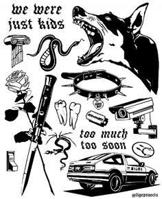 Sketch Tattoo Design, Tattoo Sketches, Tattoo Drawings, Kritzelei Tattoo, Doodle Tattoo, Tiny Tattoo, Tattoo Quotes, Tattoo Flash Sheet, Tattoo Flash Art