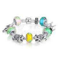 Barbara丨Murano Glass Beads 925 Silver Strand Bracelets and Animal Charm DIY Jewelry