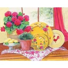 ... Mary Kay Crowley Yellow Plates Wall Decor Home ...