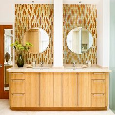 Clean and Contemporary. I like the tile work.