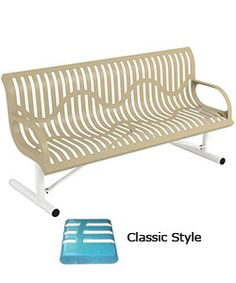 6u0027 Classic Wingline Bench With Back   Portable. 174 Lbs. Plastisol Or  Polyethylene