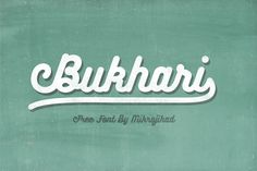 Bukhari Free Font with extended license