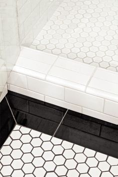 Master bath floor tile inspiration Photo: Mark Lohman | thisoldhouse.com | from A Bathroom Adds Light, No Windows Needed