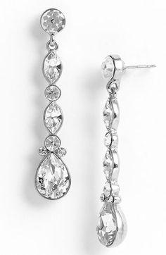 Nina 'Jardins' Linear Crystal Earrings
