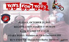 Bernalillo/Albuquerque, NM - Oct. 25, 2015: Toys for Tots Charity motorcycle Ride.
