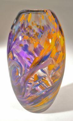 pinceladas de otoño Art-Glass Vessel by.?.?.?