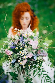 Image by Enchanted Brides Photography - Woodland Flower Fairy Inspired Bridal Shoot With Dresses By Christine Trewinnard Couture And Blooms From The Cornish Cutting Garden With Images From Enchanted Brides Photography At Cosawes Barton Cornwall