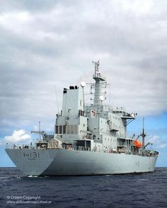 Pictured is the Royal Navy Survey Vessel HMS Scott. The ship is fitted with a modern multi-beam sonar suite which permits mapping of the ocean floor worldwide. HMS Scott is fully lean-manned with a complement of only 63, made possible by moving toward commercial manning practices like the use of fixed fire fighting equipment and extensive machinery and safety surveillance technology. The ship has a three watch crew rotation system with 42 personnel embarked at any one time.