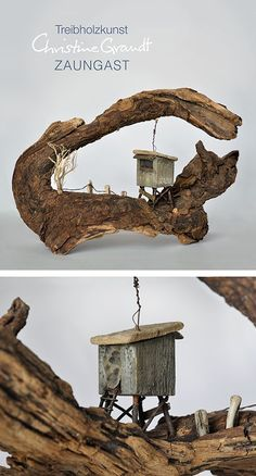 Anyone, who's interested in woodwork and wants t. bois bois chantourner bois cnc bois de grange b Driftwood Crafts, Wooden Crafts, Into The Woods, House In The Woods, Wood And Metal, Metal Art, Diy Crafts To Do, Woodworking Skills, Wood Creations