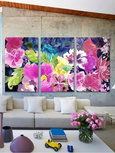 different color scheme but love large scale of florals