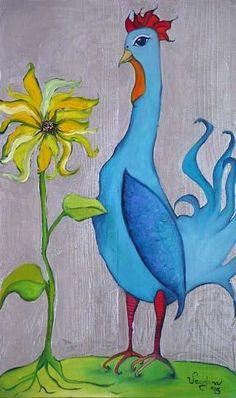 blue chicken....reépinglé par Maurie Daboux ❥•*`*•❥