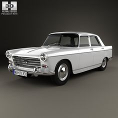 3D model of Peugeot 404 Berline 1960 based on a Real object, created according to the Original dimensions. Available in various 3D formats. Download.