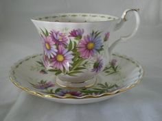 MONTH OF SEPTEMBER ROYAL ALBERT BONE CHINA CUP & SAUCER Passionate Collectibles & Dishes $34.99